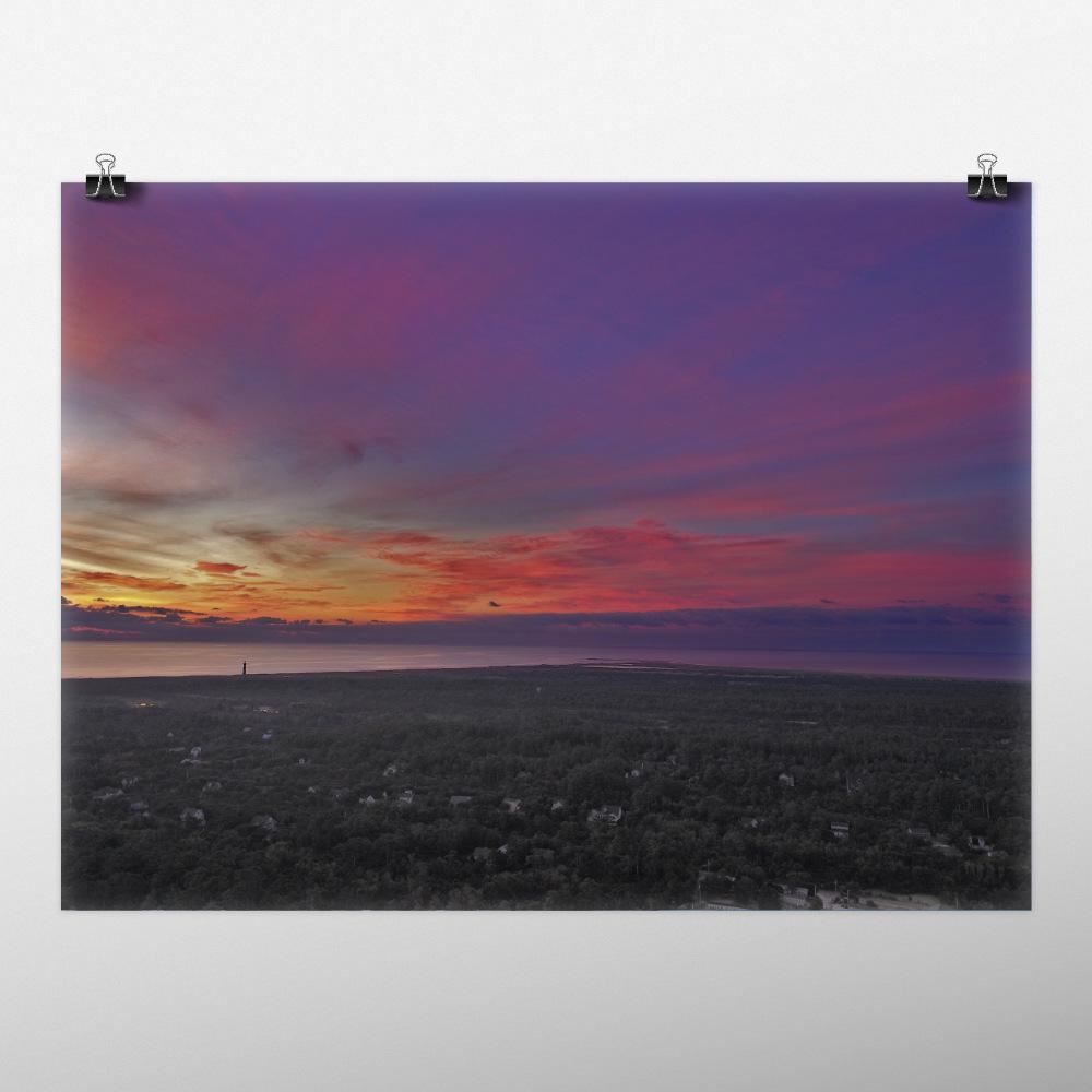Mockup of sunrise over Buxton, NC