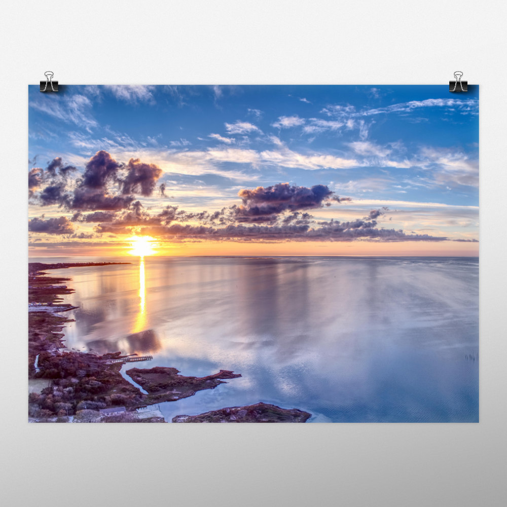Art print of sunset over Buxton, NC